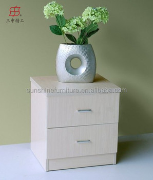 living room wooden furniture white bedside table with drawer