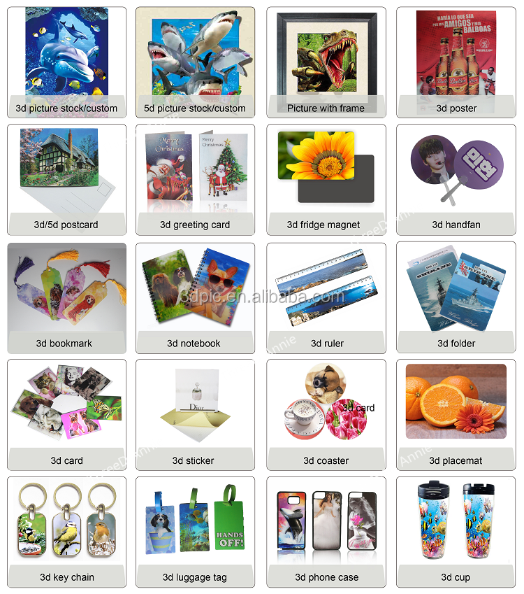 high end lenticular bookmark with flip change images effect customize bookmark