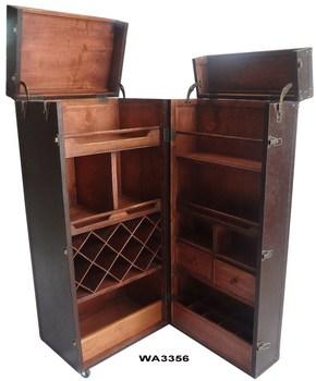 shipping trunk bar bar trunk furniture
