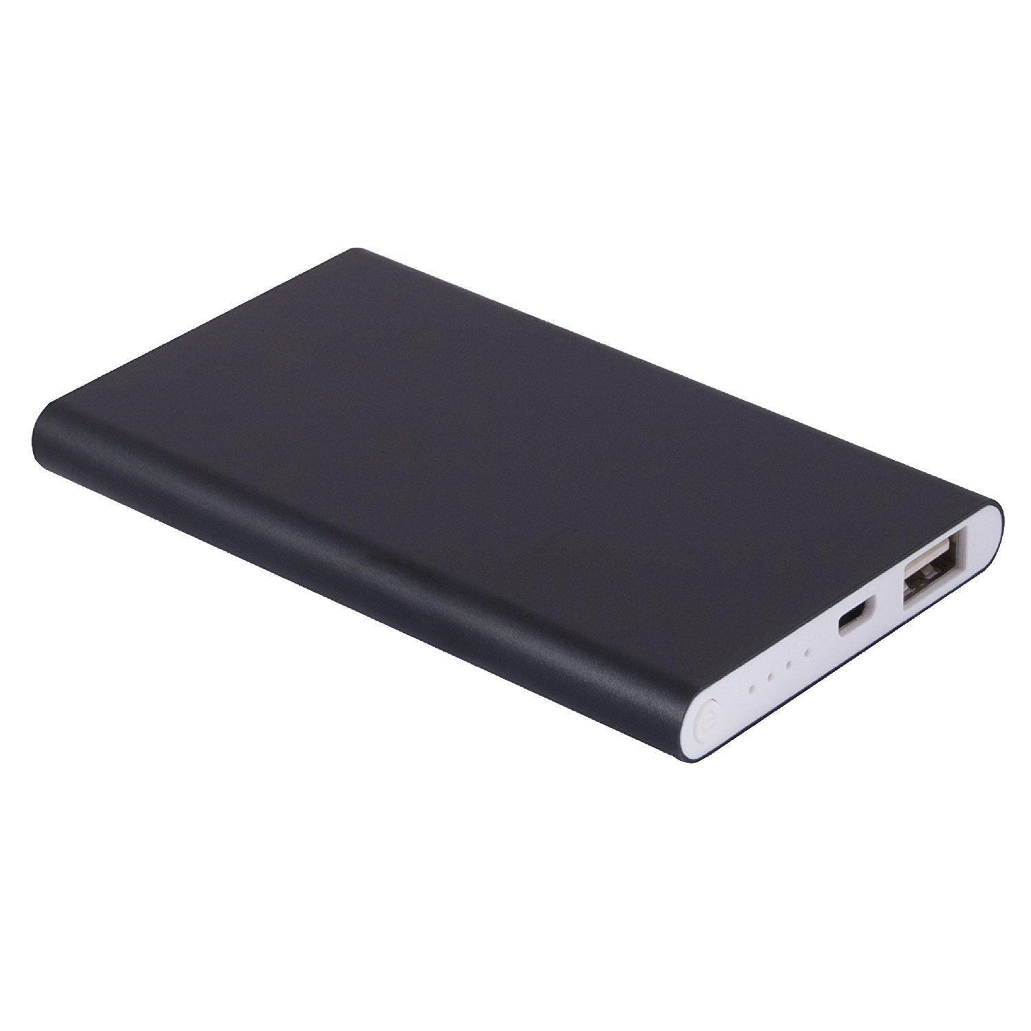 BHD Tech 5000 mAh Portable Power Bank Dual USB 2.1A Output iPhone iPad in Black