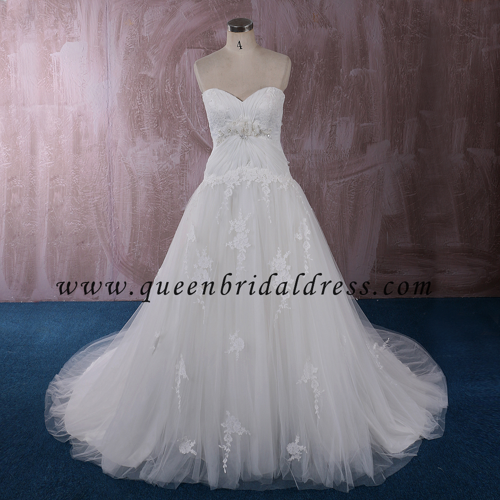 Glamorous Sweetheart Wedding gowns Appliques Lace Wedding Dresses