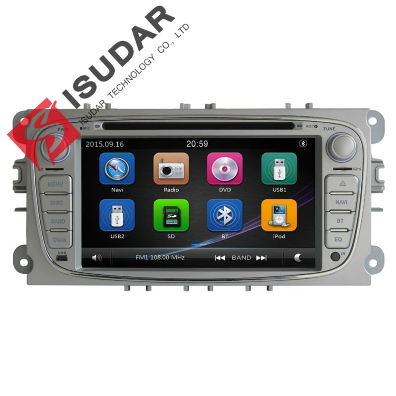 Silver Two Din 7 Inch Car DVD Player For FORD FOCUS MONDEO S-MAX CONNECT With