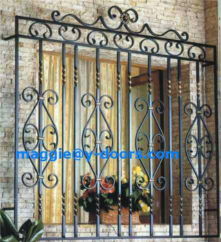 Double Glazed Iron Windows Grill Model In House Style
