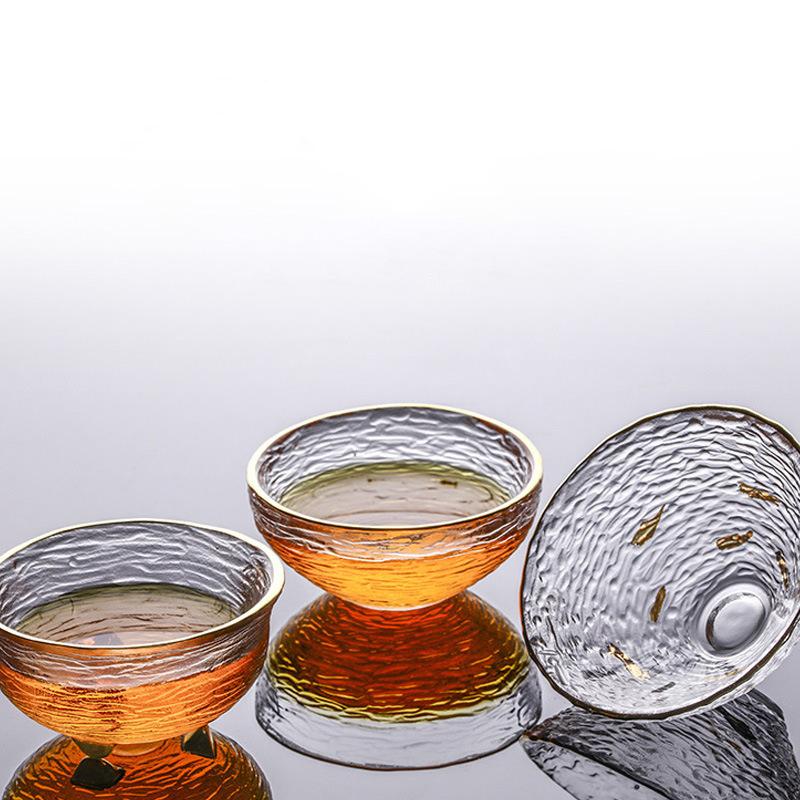 和風ダブルウォールグラスティーカップホウケイ酸ガラスガラスティーカップ