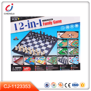 Funny 12 in 1 education toys kids game imported chess set