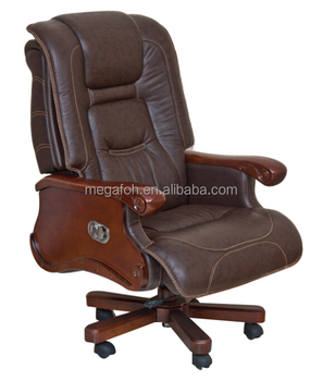 leather antique wood office chair leather antique. USA Florida Miami Antique Office Furniture Dark Brown Leather Executive  Chair (FOH-B106) Wood R