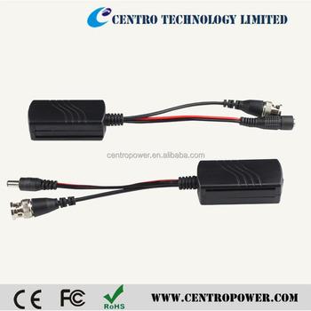 hd cvi tvi ahd cvbs 1ch passive cctv video power rj45 connectors balun for  cctv camera