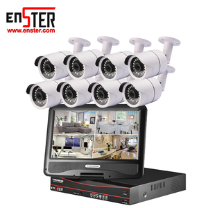 Shenzhen Top 10 Manufacturer 8CH 10 Inch LCD Monitor POE NVR Surveillance System CCTV Security IP Camera Kit