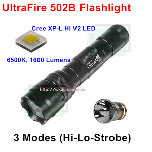 2015 Best Offer Price UltraFire WF-502B XP-L HI V2 6500K 1600 Lumens Cool White Powerful Flashlight