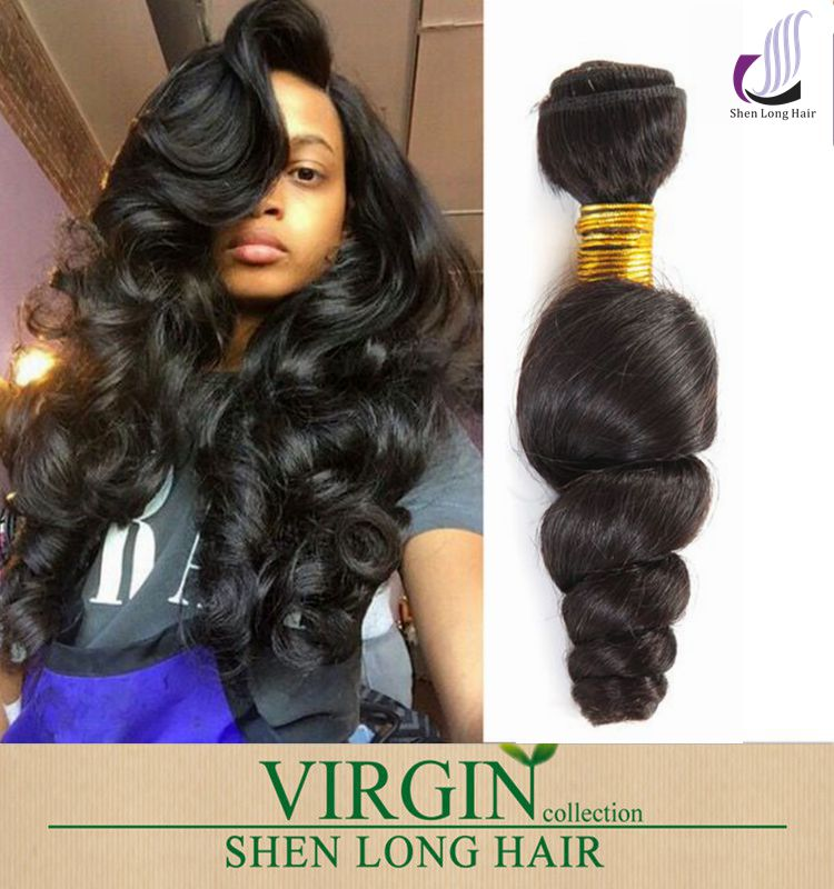 Loose Curl Human Hair Weaving Double Weft Hair Extensions 100