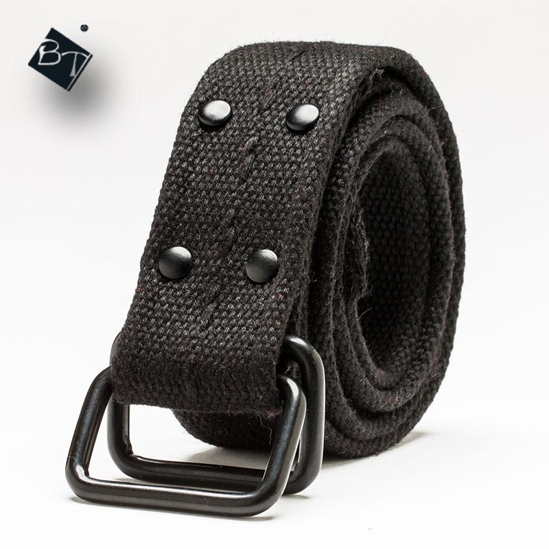 37846ff489e BT liga fivelas de cintos de lona das mulheres dos homens anel duplo de  algodão cinto