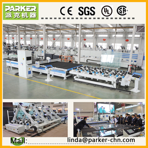 automatic laminated and float glass cutting machine / jinan parker machinery co.,ltd