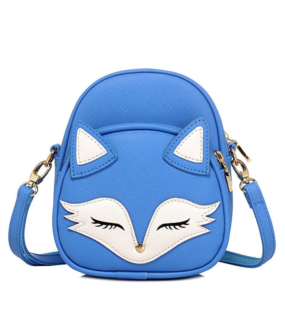 Tom Clovers Womens Girls Mini Cute Sleeping Fox handbag Cross Body Shoulder Bag Sling Bag