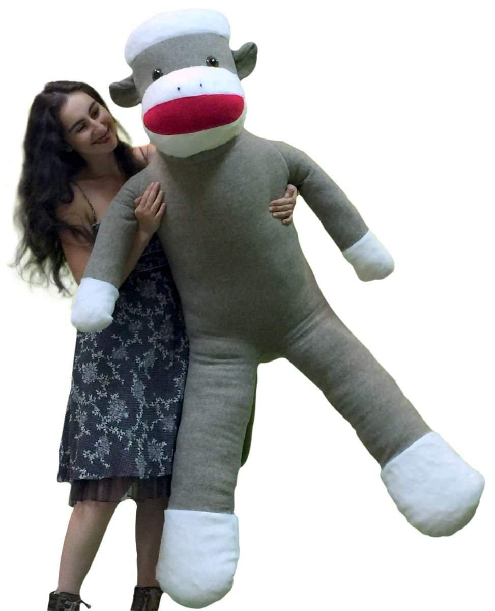Giant Sock Monkey Dog Toy