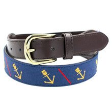 High Quality Handmade Fancy Alloy Metal Buckle Fashion Embroidery Belt Men