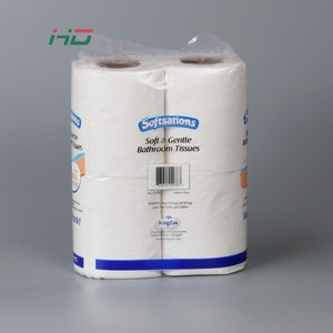Wholesale products 4 roll per bag soft standard roll paper toilet tissue