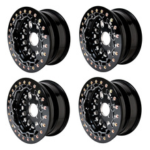 Black Beadlock Wheel 12 inch 12x7 5+2 4/110 ATV wheels for Honda TRX500 Rubicon 500