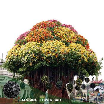 Hanging Planter Lamp And Light Pole Decorative Plastic Flower Pot Planters