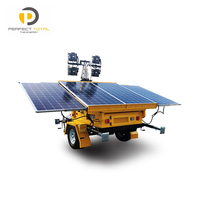OEM portable mobile solar light tower with 1200watts LED lamps
