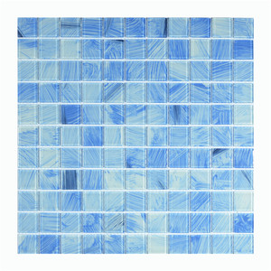 hand painting blue color crystal glass mosaic /high quality DEMAX mosaic swimming pool tile