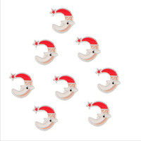 Yiwu Aceon Stainless Steel Small Size Promotional jewelry findings colorful enamel Christmas charms