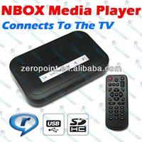 NBOX USB AV TV RM RMVB MP3 Divx SD Card Media Player