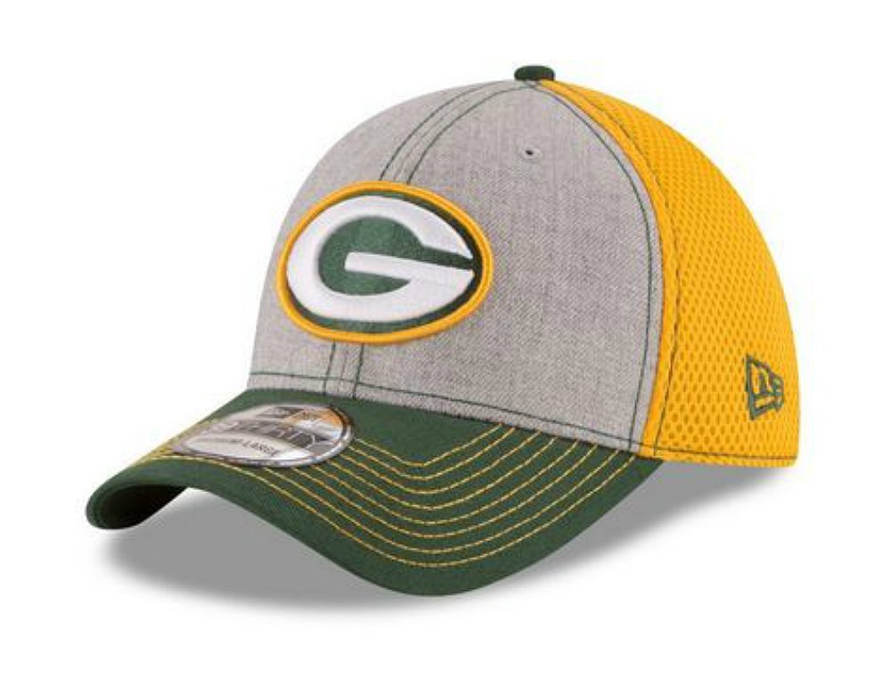 Get Quotations · Green Bay Packers Heathered Neo Flex Fit Medium   Large Team  Colors Hat Cap 1eb9630634e9