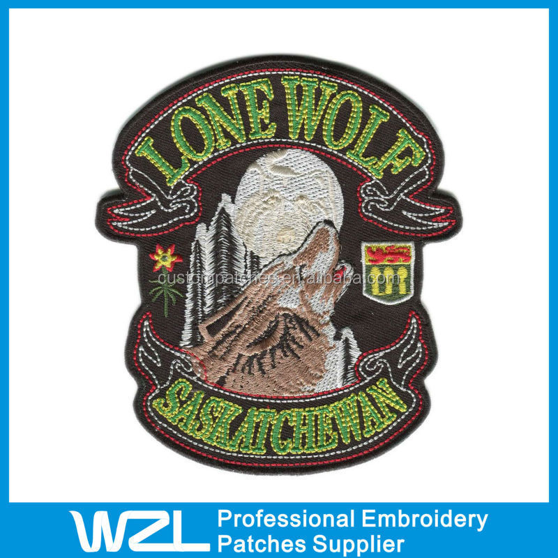Lone Wolf Embroidered Epaulettes/ Embroidery Patches for Paintball Team