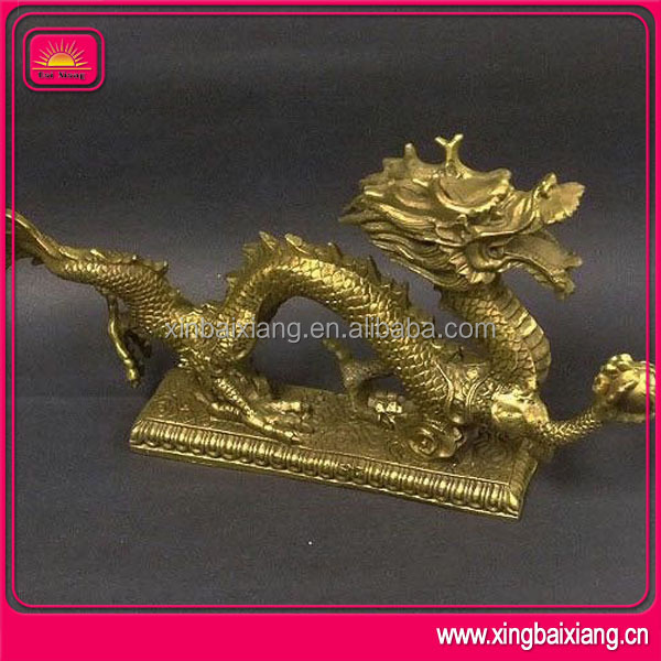 chinese manufacture bull brass horse brassdragon statue