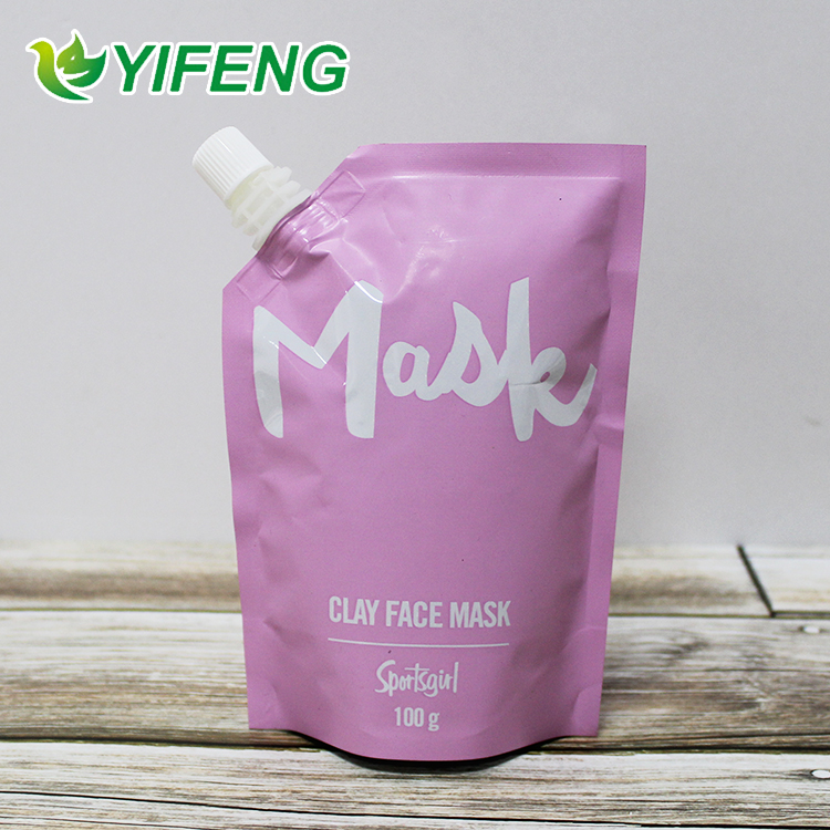 Custom laminated stand up pouches food bag reusable drink spout pouch with low price