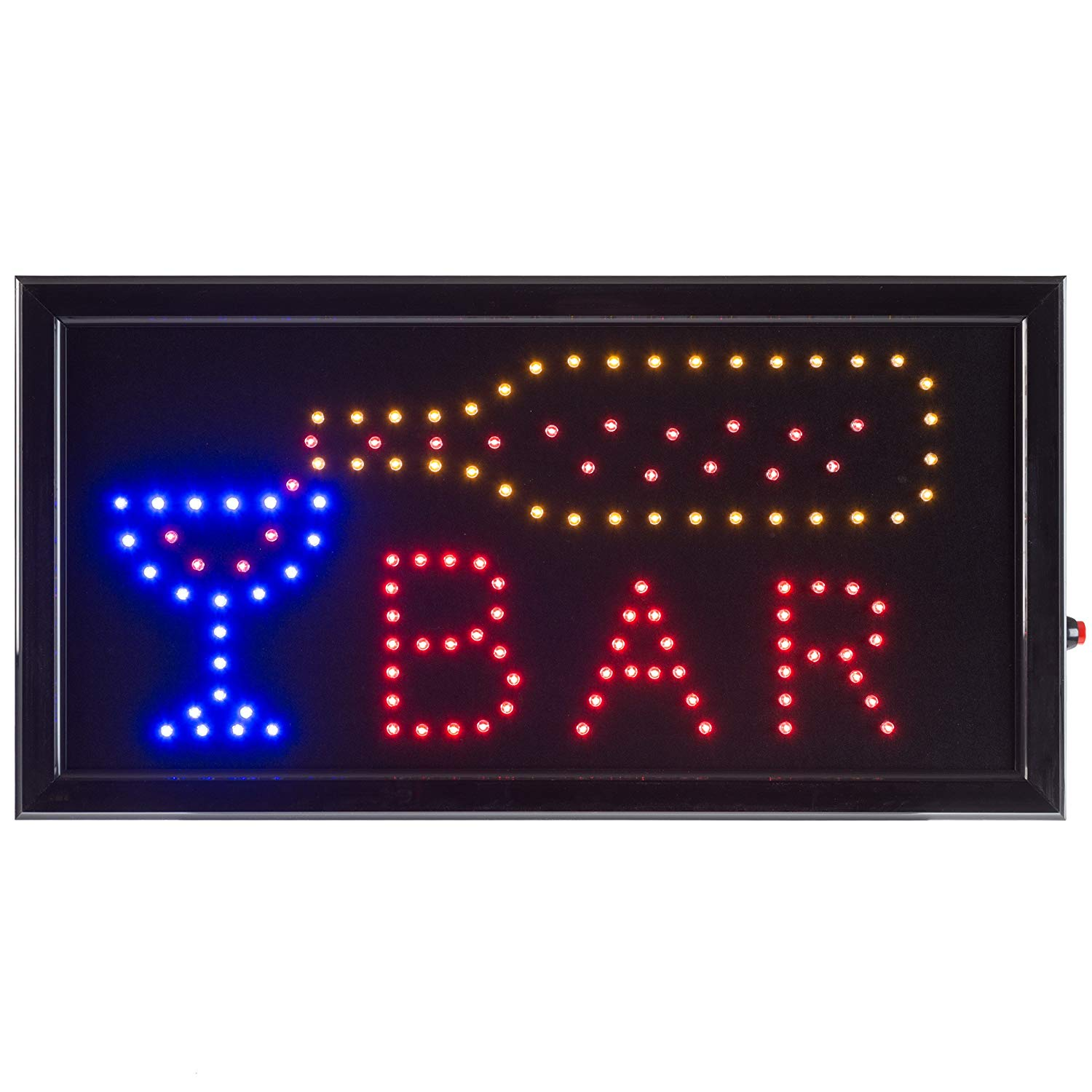 Bar LED Sign- Lighted Neon Electric Display Bar Sign With Animation and Energy Efficient LED For Home, Business, Special Events by Lavish Home
