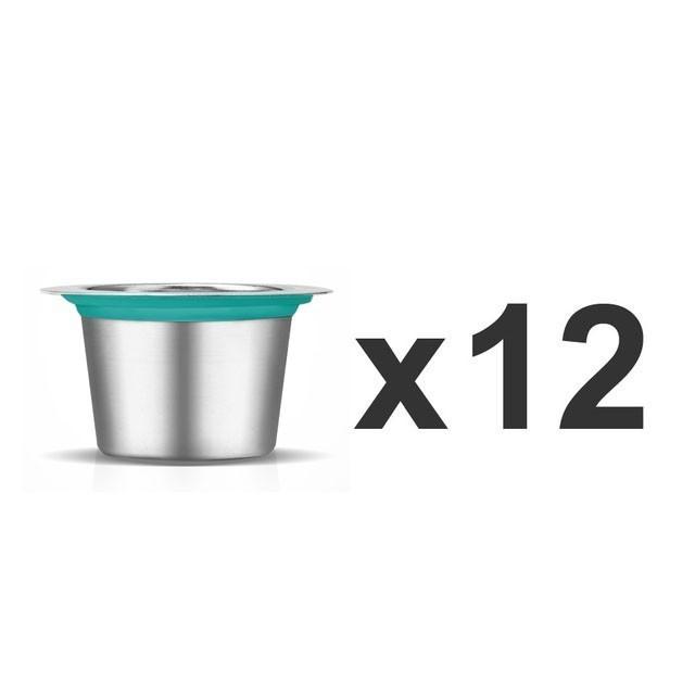24 шт. Nespresso кофейные стручки из нержавеющей стали многоразовые капсулы Nesspreso многоразовые кофейные фильтрующие Чашки Новые Diy Инструменты д...(Китай)