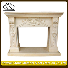 Italian Factory Supplied Home Decorative Natural Marble Fireplace Mantel