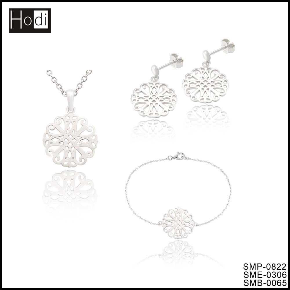 New fashion silver plated rani haar jewelry set