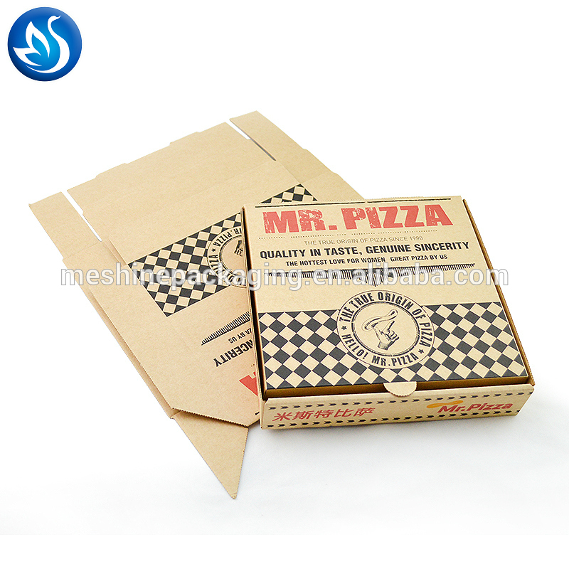 Custom Waterproof 9 Inch Cheap Paper Rectangular Reusable Slice Scooter Pizza Carton Box Printed