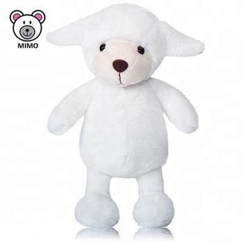 Adorable White Goat Sheep Plush Toy 2018 New Design Promotion Gift