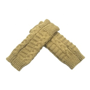 Custom Women's Hand Winter Warm Fingerless Arm Warmers Gloves