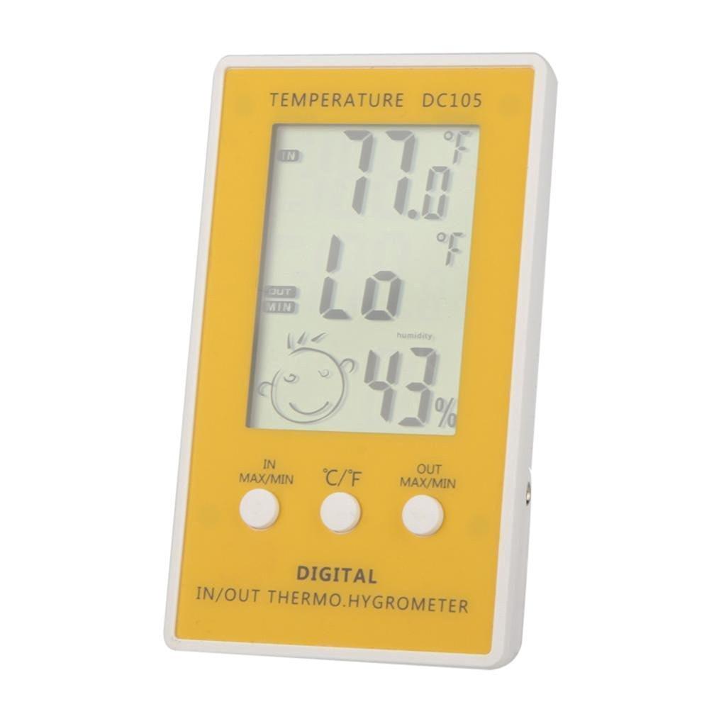LCD Digital Hygrometer Humidity Thermometer Temperature Meter Indoor Outdoor New / Outdoor Temperature, Indoor Humidity Display / 14.6 * 10.8 * 1.6cm / 5.7 * 4.3 * 0.7in