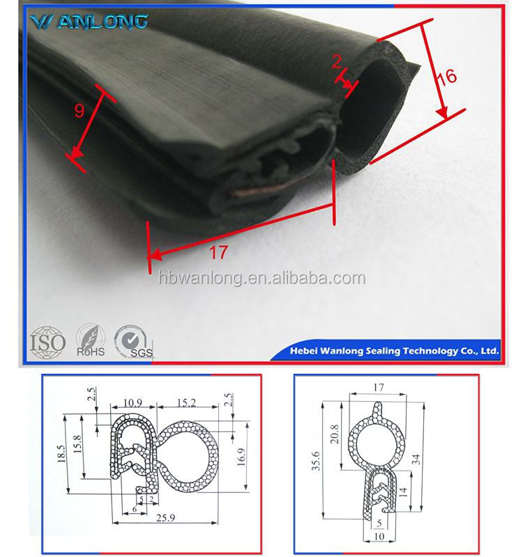 EPDM window and door rubber strip