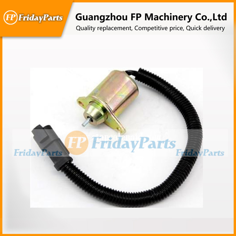 Free Fast Shipping 12V 119807-77800 Engine Fuel Stop solenoid For Yanmar