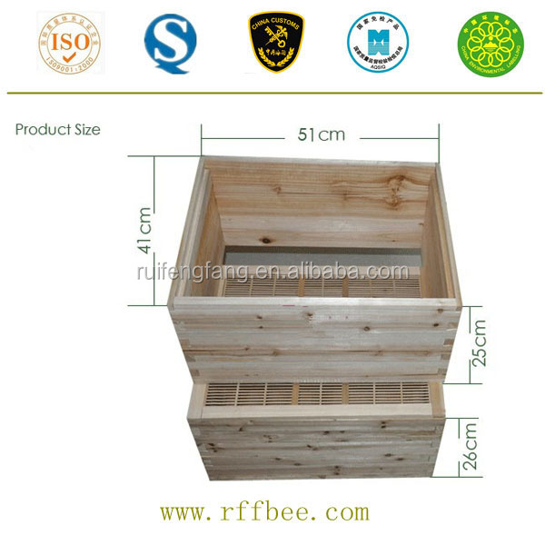 First-class manufacturer provide wholesale langstroth two level wooden beehive