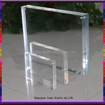 Double Sided Block Picture Frame 4x6 5x7 Clear Acrylic Photo Frame