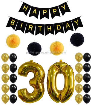 30th BIRTHDAY PARTY DECORATIONS SET