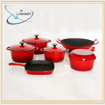 enamel cast iron cookware / kitchen cookware set