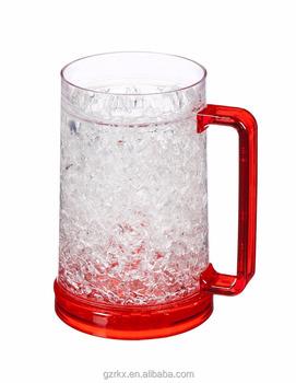 Double Wall Gel Freezer Mug Acrylic Tumbler Beverage