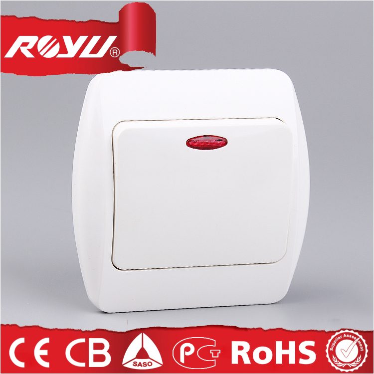 Electric Wall Switch With Led Indicator Light,Abs Material Luxury ...
