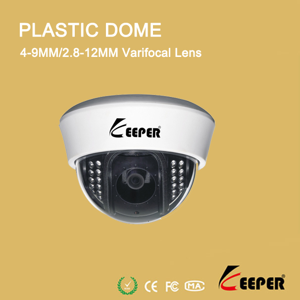sony digital camera Color CCD security equipment plastic dome cctv camera