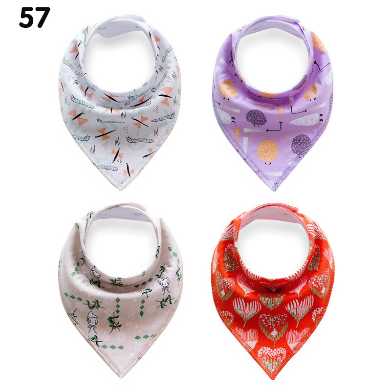 NEW Baby Burp Bandana Bibs Cotton Soft Kids Toddler Triangle Scarf Bib Cool Accessories mixed colors Infant Saliva Towel bibs