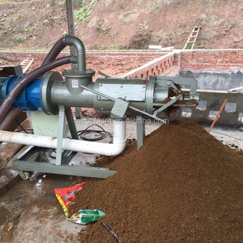 Cow Dung Washed Film Extrusion Extruding Dewatering Machine