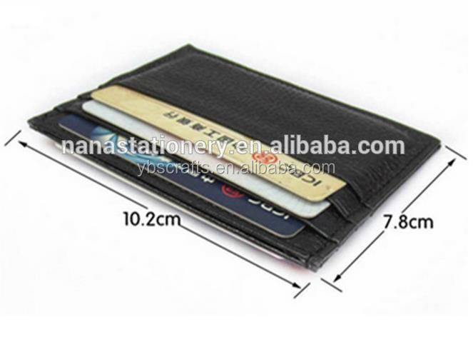 Leather Card Case Wallet Slim Thin Card Slots Pocket wholesale